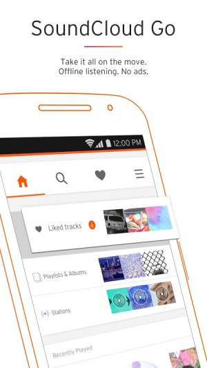 Android SoundCloud - Music & Audio Screen 3