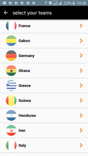 Android Orange Football Club Africa Screen 2