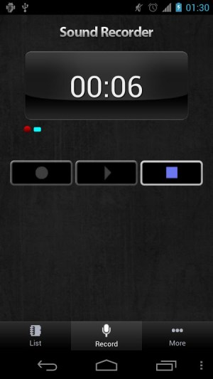 Android Sound Recorder Screen 4