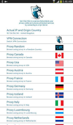 Android Vpn One Click Screen 1