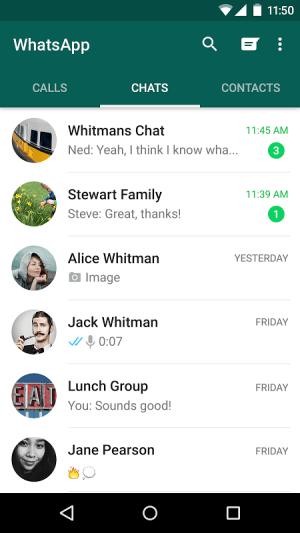 WhatsApp Messenger 2.17.196 Screen 1