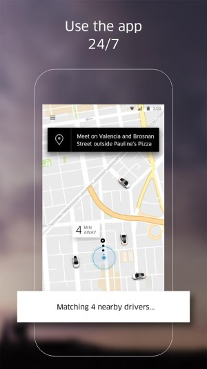 Android Uber Screen 2