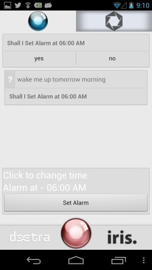 Android iris. Screen 6