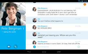 Android Skype Screen 8