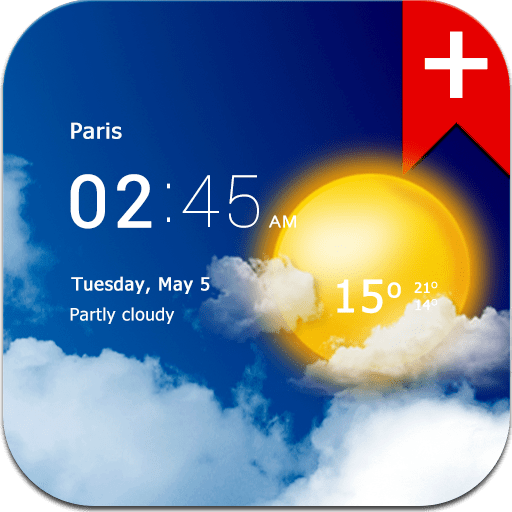 Transparent clock weather (Ad-free) 2.10.05 icon