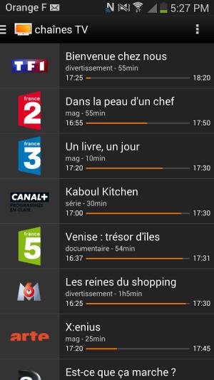 Android le Bloc d'Orange Screen 1