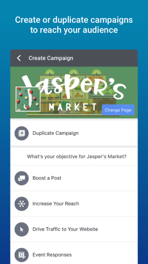 Android Facebook Adverts Manager Screen 4