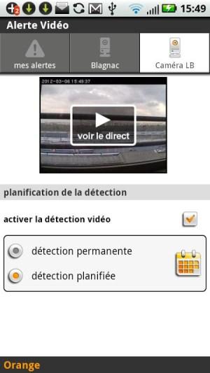 Android Alerte vidéo Screen 2