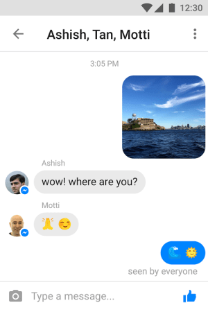 Android Messenger Lite Screen 3