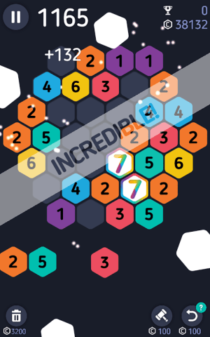 Android Make7! Hexa Puzzle Screen 3