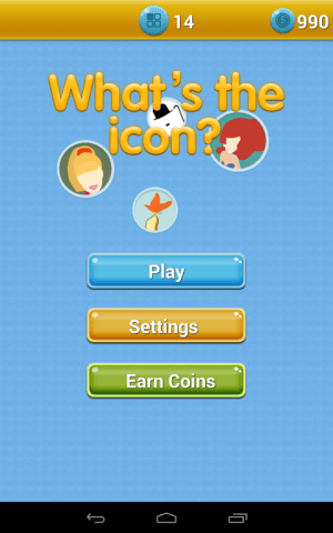 Android Icomania - What's the Icon? Screen 1