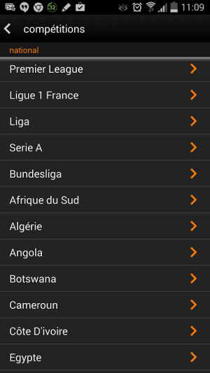 Android Orange Football Club Afrique Screen 6