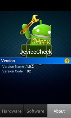 Device Check 1.0.2 Screen 2