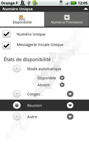 Android Numéro Unique Screen 2