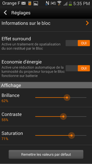 Android le Bloc d'Orange Screen 7