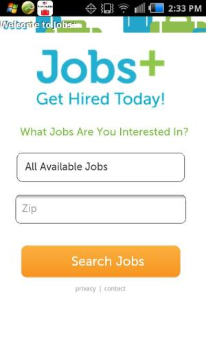 Android Jobs+ Screen 2