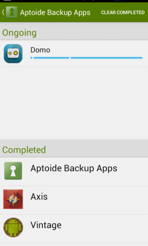 Android Aptoide Backup Apps Screen 2