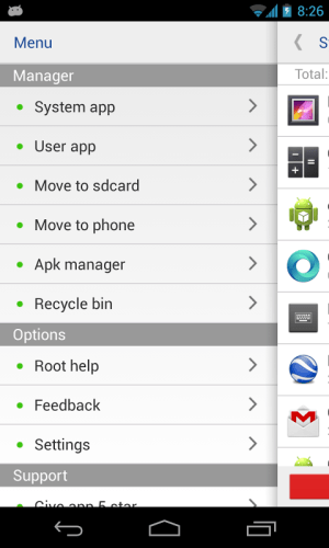 System app remover (ROOT) 3.2.1004 Screen 2