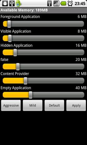 Android Auto Memory Manager Screen 5