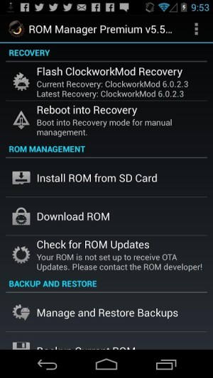 Android ROM Manager Screen 3