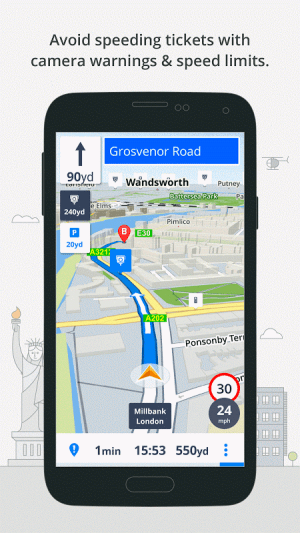 Android GPS Navigation & Maps Sygic Screen 10