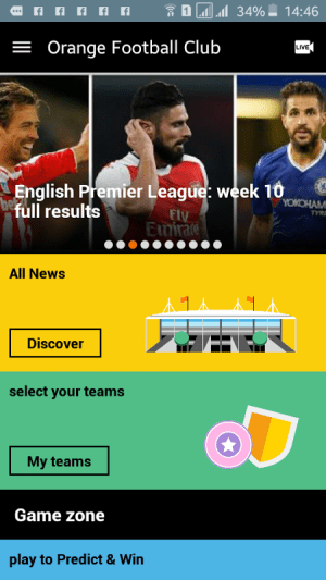 Android Orange Football Club Africa Screen 7