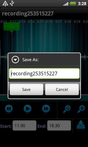 Android Sound Recorder Screen 1