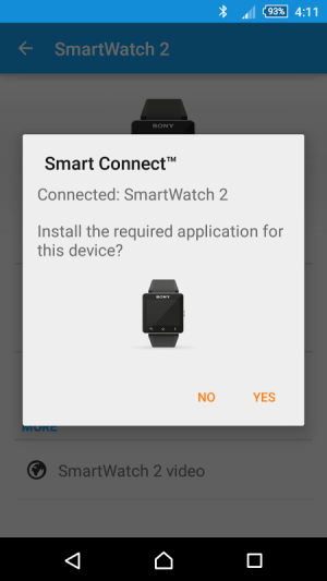 Android Smart Connect Screen 1