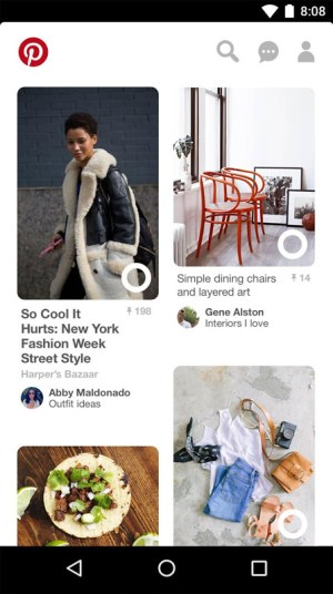 Android Pinterest Screen 2