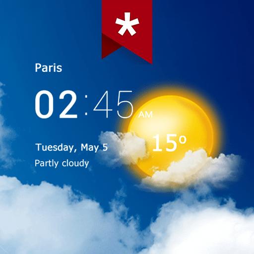 Transparent clock weather Pro 4.0.1.2 icon