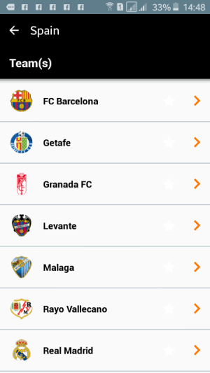 Android Orange Football Club Africa Screen 4