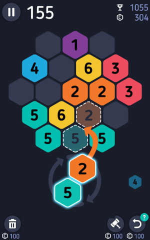Android Make7! Hexa Puzzle Screen 5