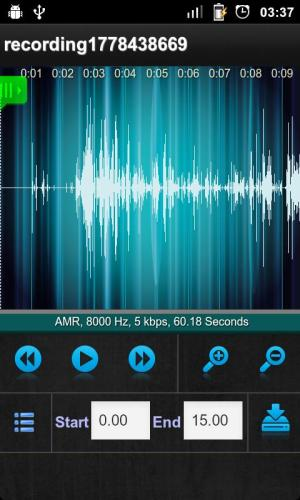 Android Sound Recorder Screen 2