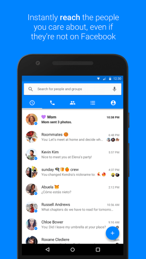 Android Messenger Screen 2