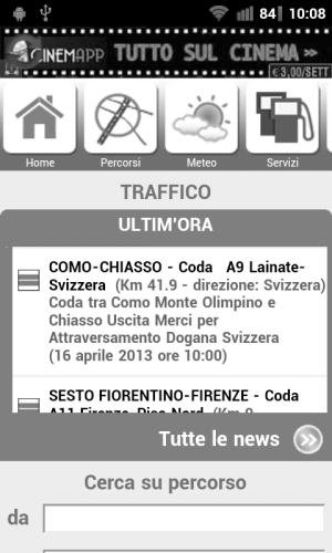 Android Autostrade Screen 1