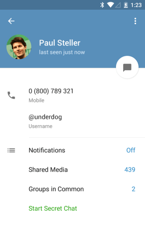 Telegram 1.0.1 Screen 8