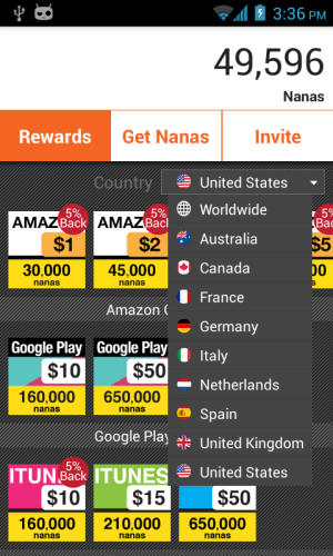 AppNana - Free Gift Cards 3.0.0 Screen 5