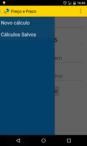 Android Cálculo Preço e Prazo Correios Screen 5