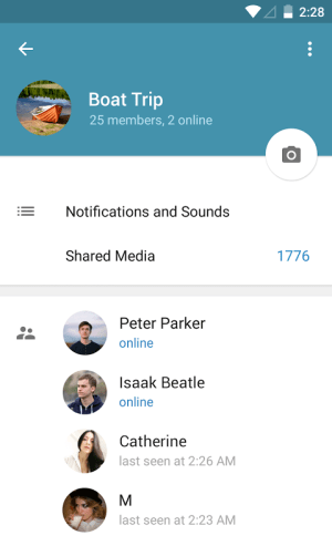Telegram 4.0.0 Screen 7