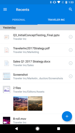 Android Dropbox Screen 23