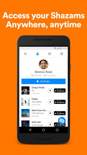 Android Shazam Screen 6