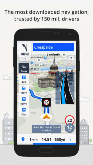 Android GPS Navigation & Maps Sygic Screen 15