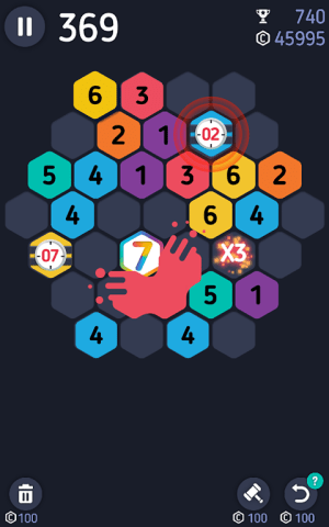 Android Make7! Hexa Puzzle Screen 2