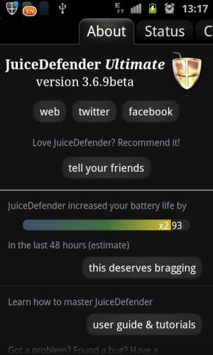 Android JuiceDefender Ultimate Screen 5