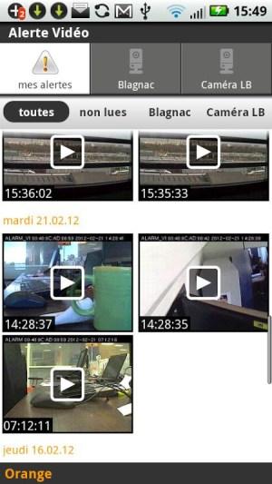 Android Alerte vidéo Screen 5