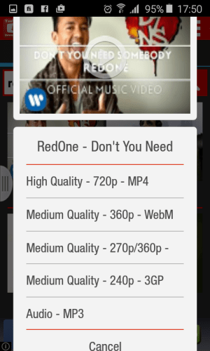 Android Youtube Downloader Pro Screen 1