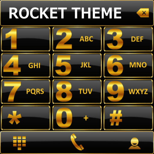 Theme Black Gold RocketDial 1.0 icon