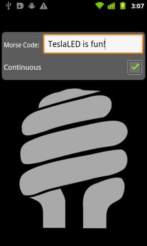 Android TeslaLED Flashlight Screen 1