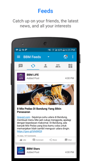 Android BBM - Free Calls & Messages Screen 1