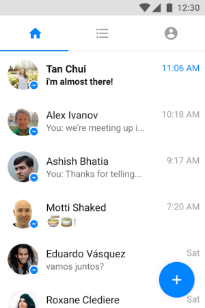 Android Messenger Lite Screen 4
